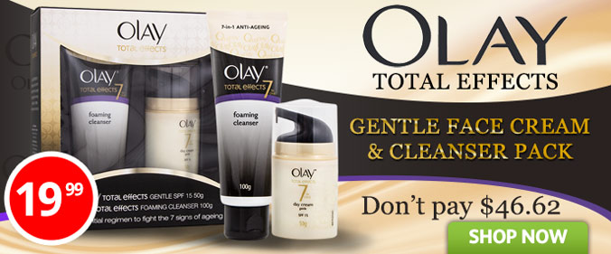 Get 57% OFF Olay Total Effects Gentle Face Cream & Cleanser Pack at Groceryrun.com.au